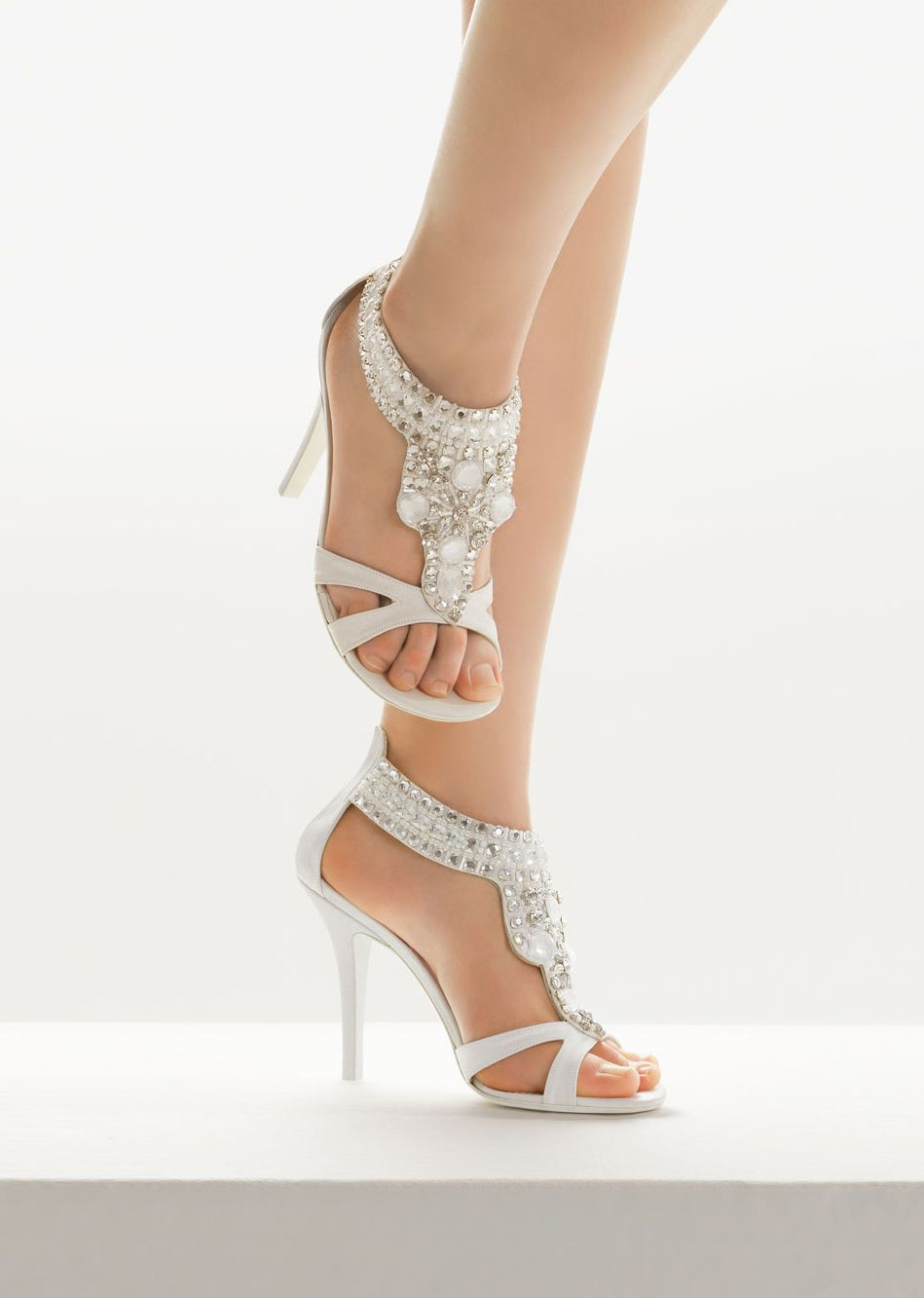 strappy jeweled sandals by Rosa Clará
