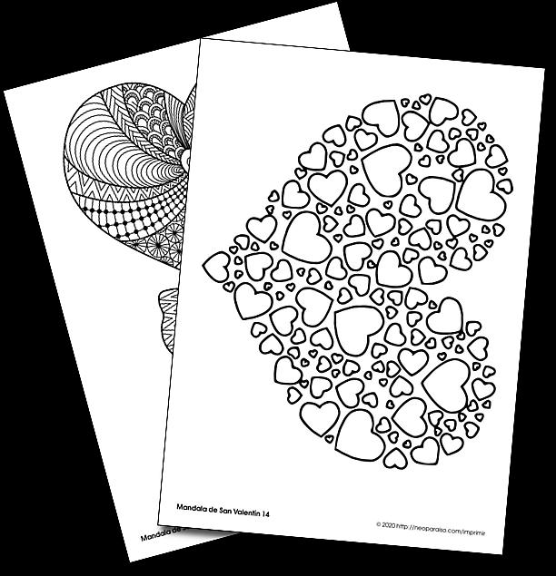 16 Dibujos Alusivo Al Dia De San Valentin Para Imprimir Y Colorear Mandalas De Corazones En Pdf Ma Mandalas Para Colorear Corazon Mandala Dia De San Valentin