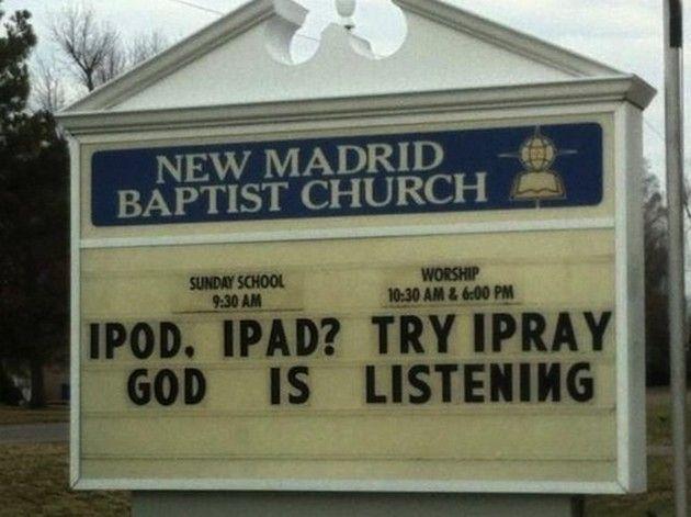 Funny Church Signs (17 Pics)   Funny church signs, Church ...