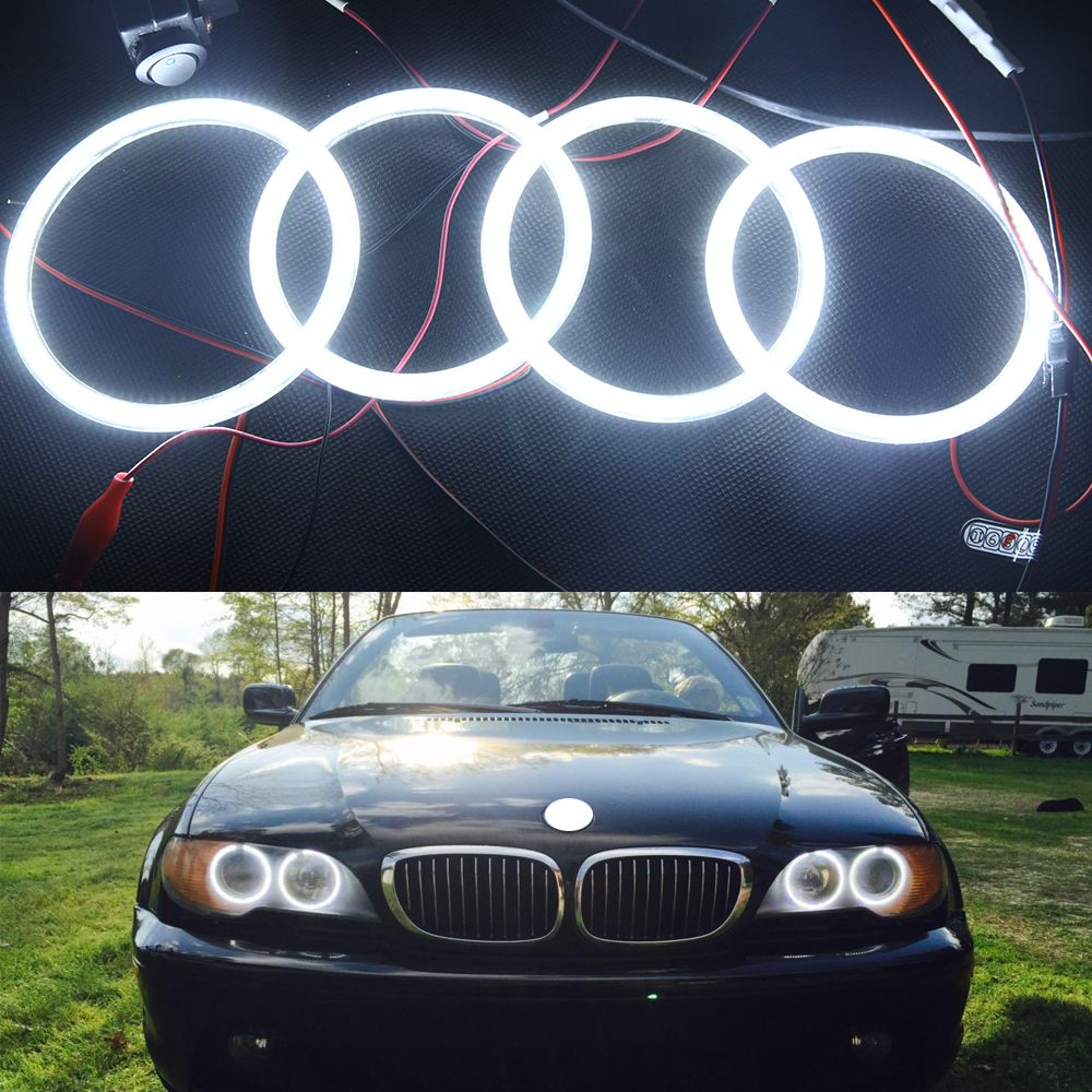 Special Fit For Bmw Angel Eye Halo Light 3014smd Led Ring For E46