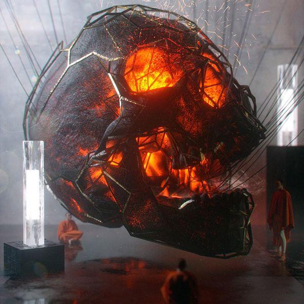 3D Skull Model Pack † On Behance