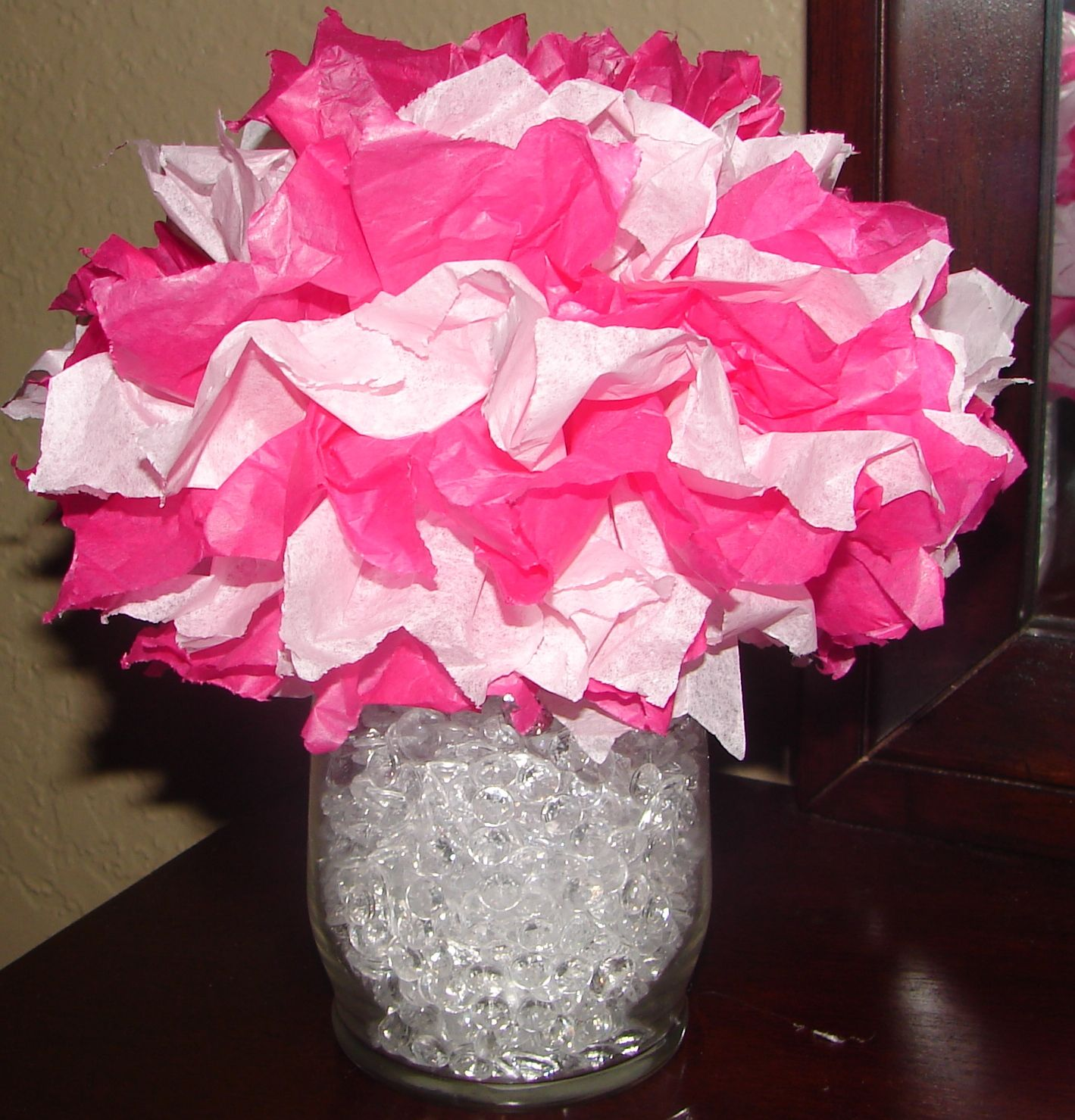 Tissue Paper Pom Pom Centerpiece Dollar Tree Tissue Paper Dollar
