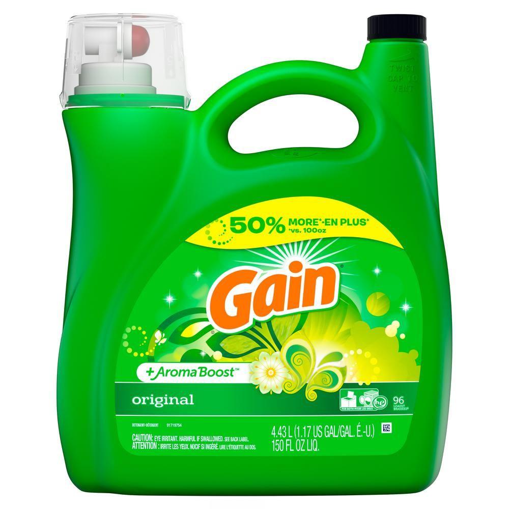 Gain 150 Oz Original Fresh Scent He Liquid Laundry Detergent 96