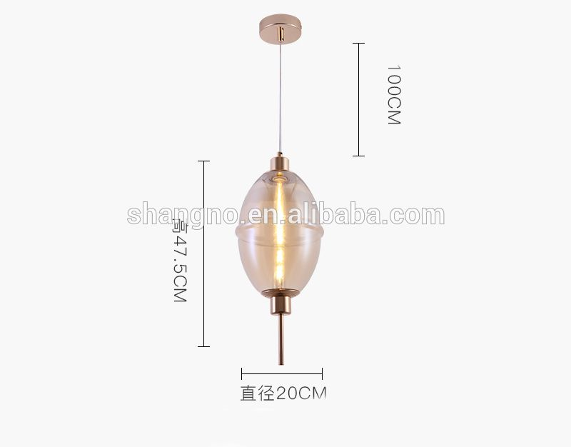 Photo of Modern smoky gray / amber / gradient glass lantern LED ceiling linear pendant lamp decor for …