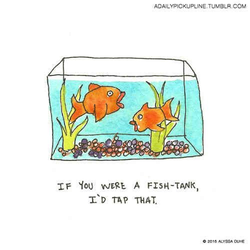 Fish related pick up lines