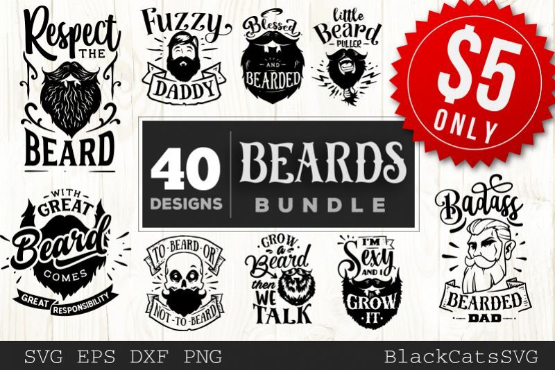 Beards Svg Bundle 40 Designs 300634 Svgs Design Bundles Design Bundles Svg Design
