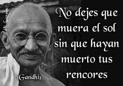 Gandhi Frase Célebre Paz Reflexión Amor Rencor