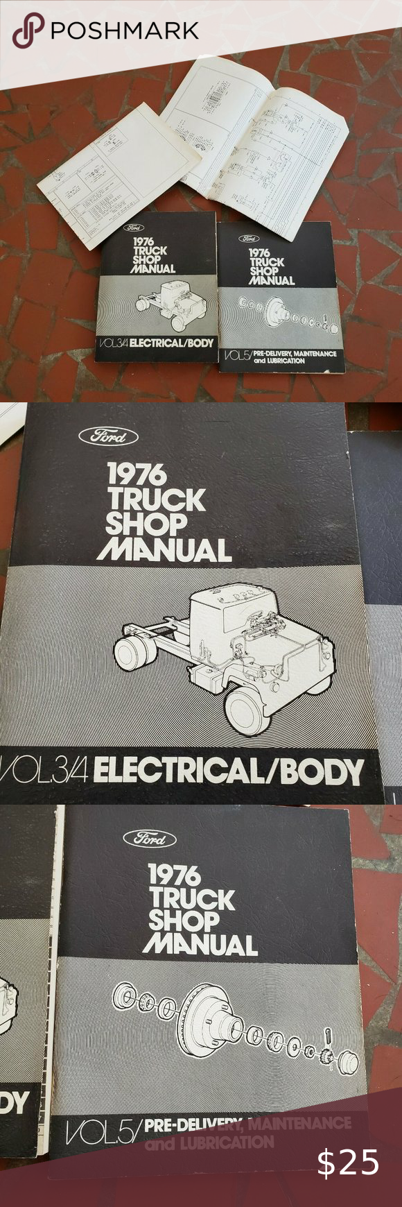 1976 Ford Truck Factory Shop Manuals In 2020 Ford Truck Ford Trucks