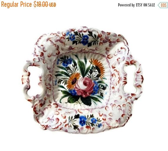 25% Sale Hand Painted Plate  Italian Vintage  From by LaTrouvaille