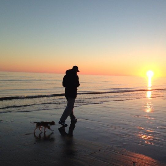 Quana the cavalier - Romantic walk at the beach with daddy