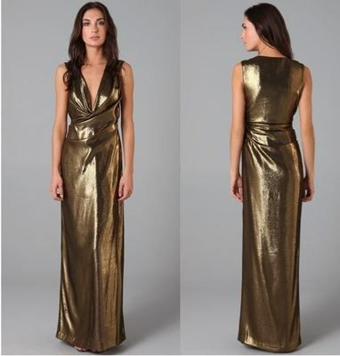 Gold lame disco dress styles