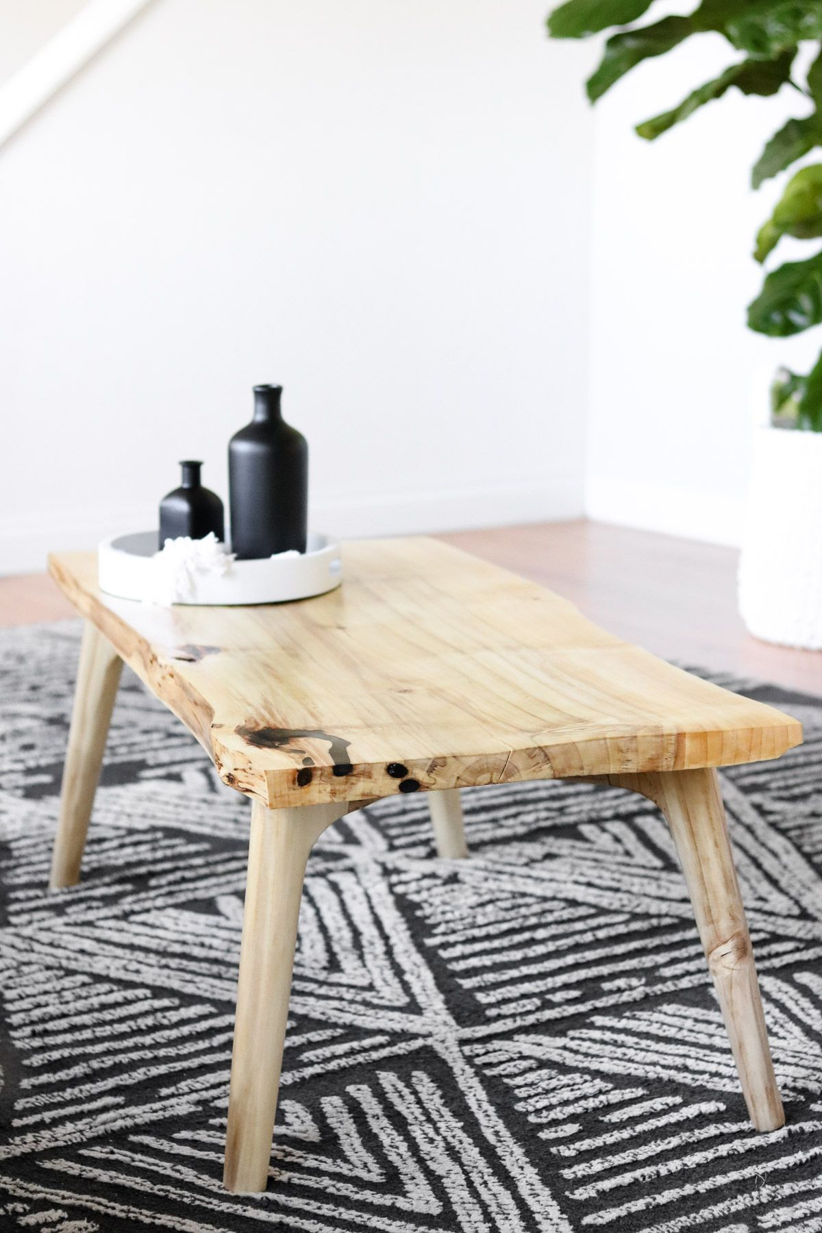 Diy coffee table with a live edge how to make it from