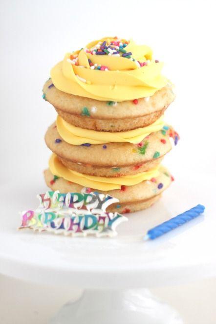 Celebrate FUNFETTI with pillsbury with Mini Lemon Funfetti Cakes