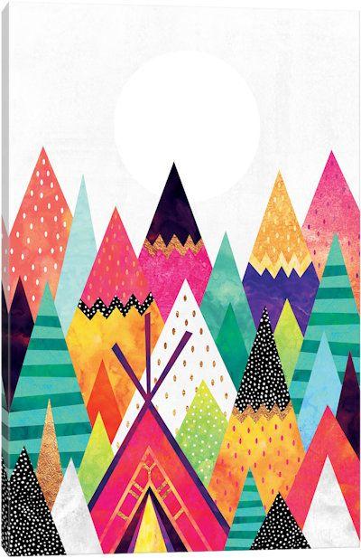 Land Of Color by Elisabeth Fredriksson Canvas Art Print