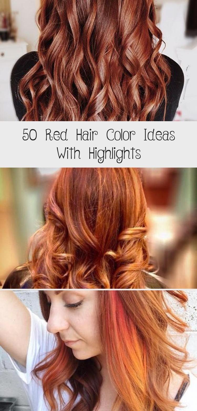 9 Ideen für rote Haarfarben mit Highlights   Frisuren Update ...