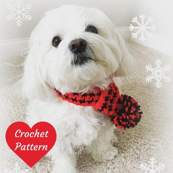 Dog Scarf Pattern, Crochet for Dogs, Christmas Crochet Pattern ...