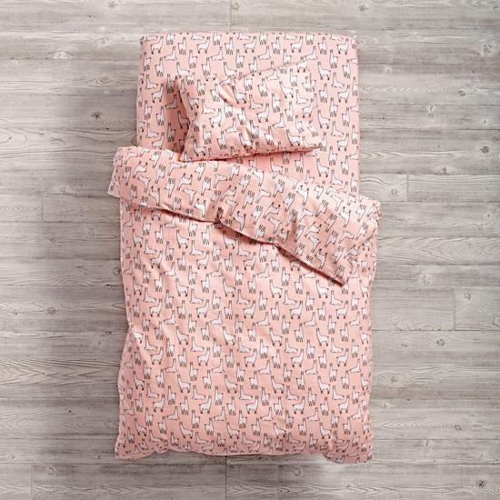 llama-a-rama crib toddler bedding | the land of nod | kid's room