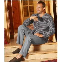 , Gestreifter Pyjama aus Microfleece Atlas For MenAtlas For Men, Family Blog 2020, Family Blog 2020