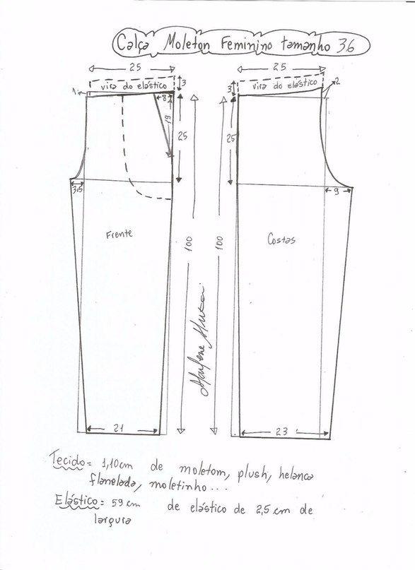 Patrones de costura para hacer pants Ideas de Manualidades | moldes ...