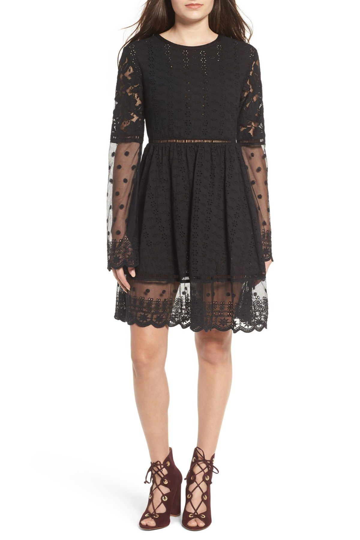 Crystal Visions Lace u Eyelet Dress  Products