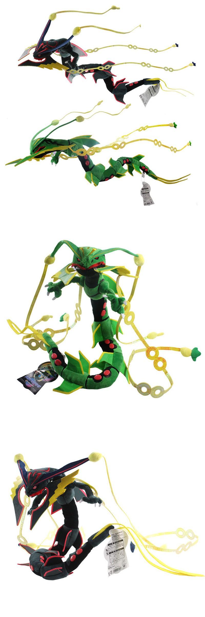 Hot sale cm pokemon plush toy xy mega ruby rayquaza dragon soft