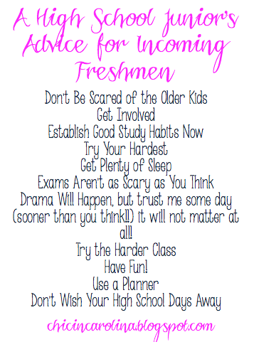 The Best Advice for Incoming High School Freshmen
