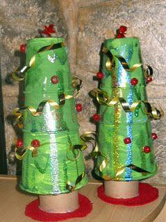 Pcup Christmas Trees Christmas Tree Crafts Paper Cup Crafts Tree Crafts