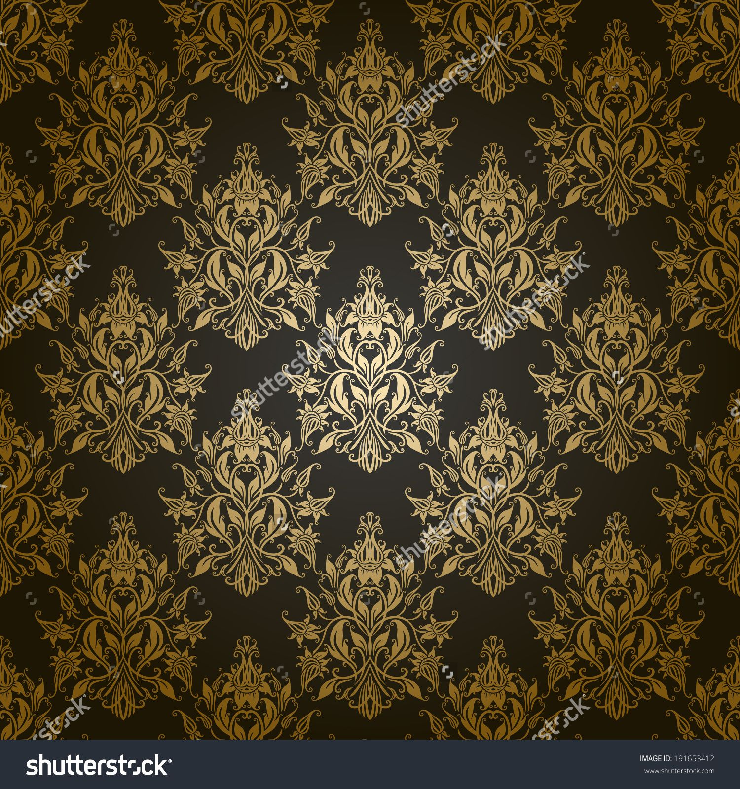 Damask Seamless Floral Pattern Royal Wallpaper Flowers On A Gray Background