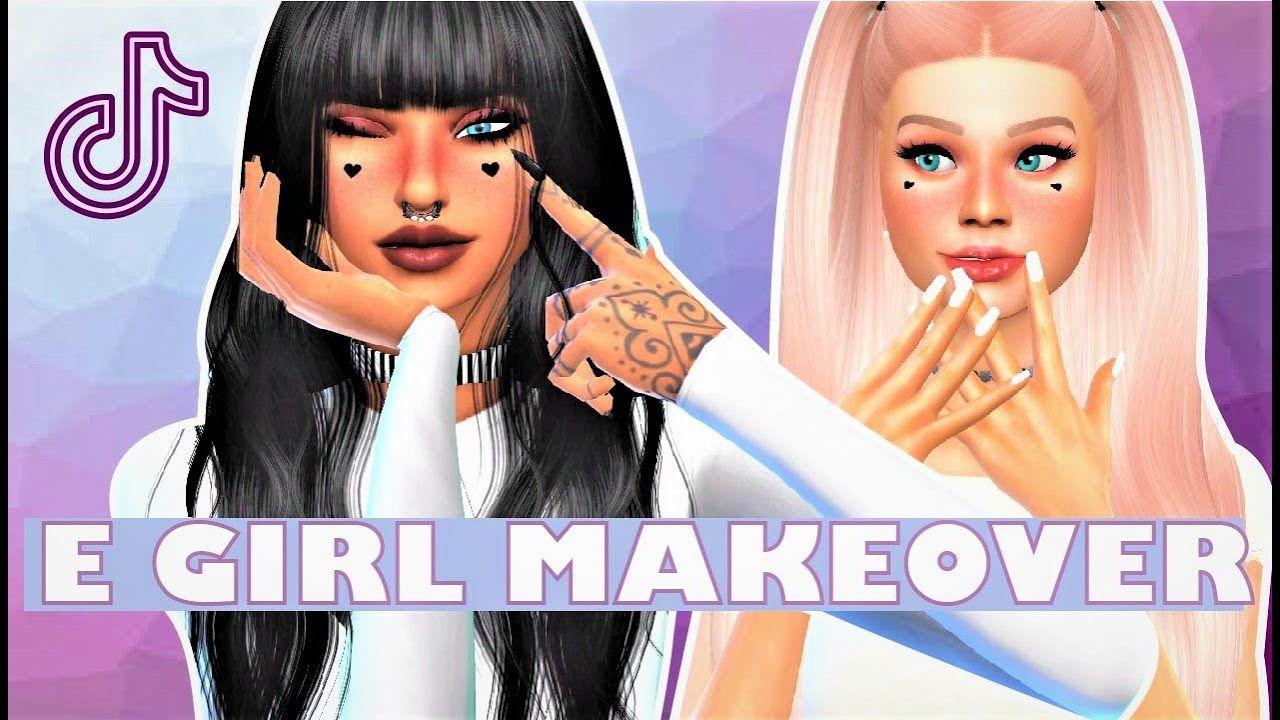 Transforming My Sims Into E Girls The Sims 4 E Girl Cas Makeover Tran In 2020 Sims Sims 4 My Sims