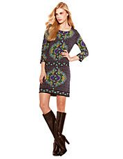Women's Apparel   Day    Mosaic Print Jersey Shift Dress   Lord and Taylor