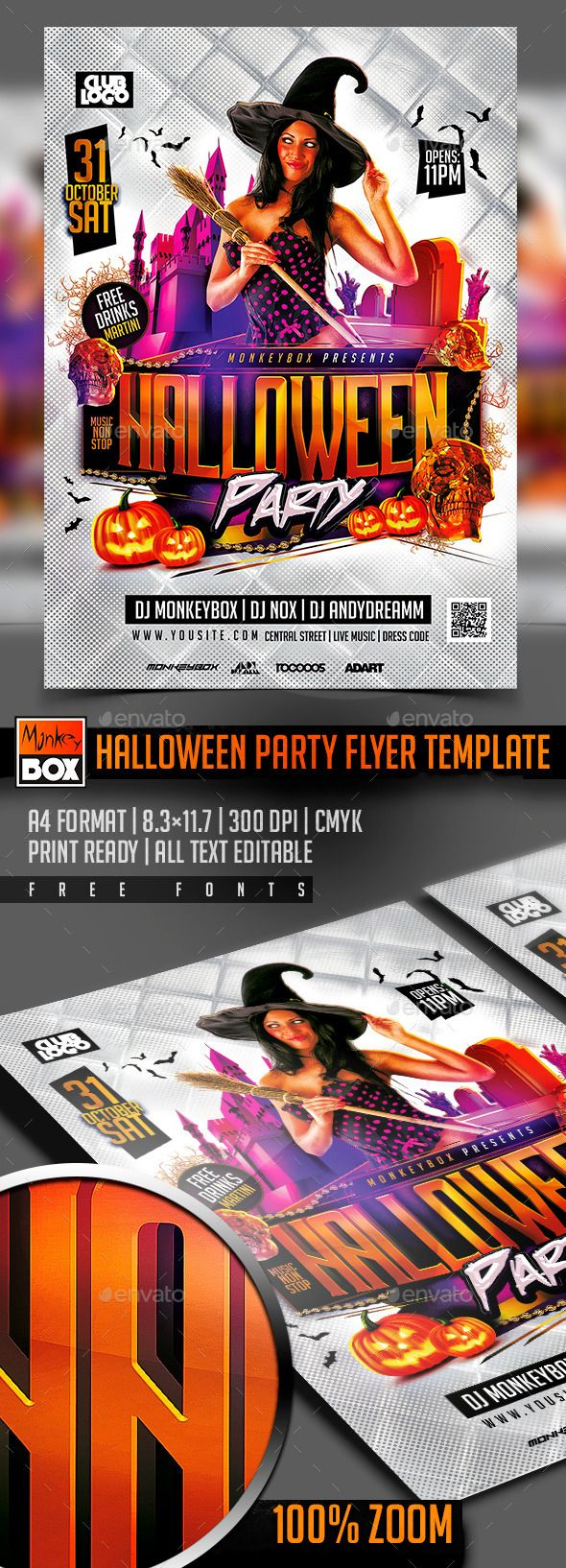 Halloween Party Flyer Template Psd Design Download Http
