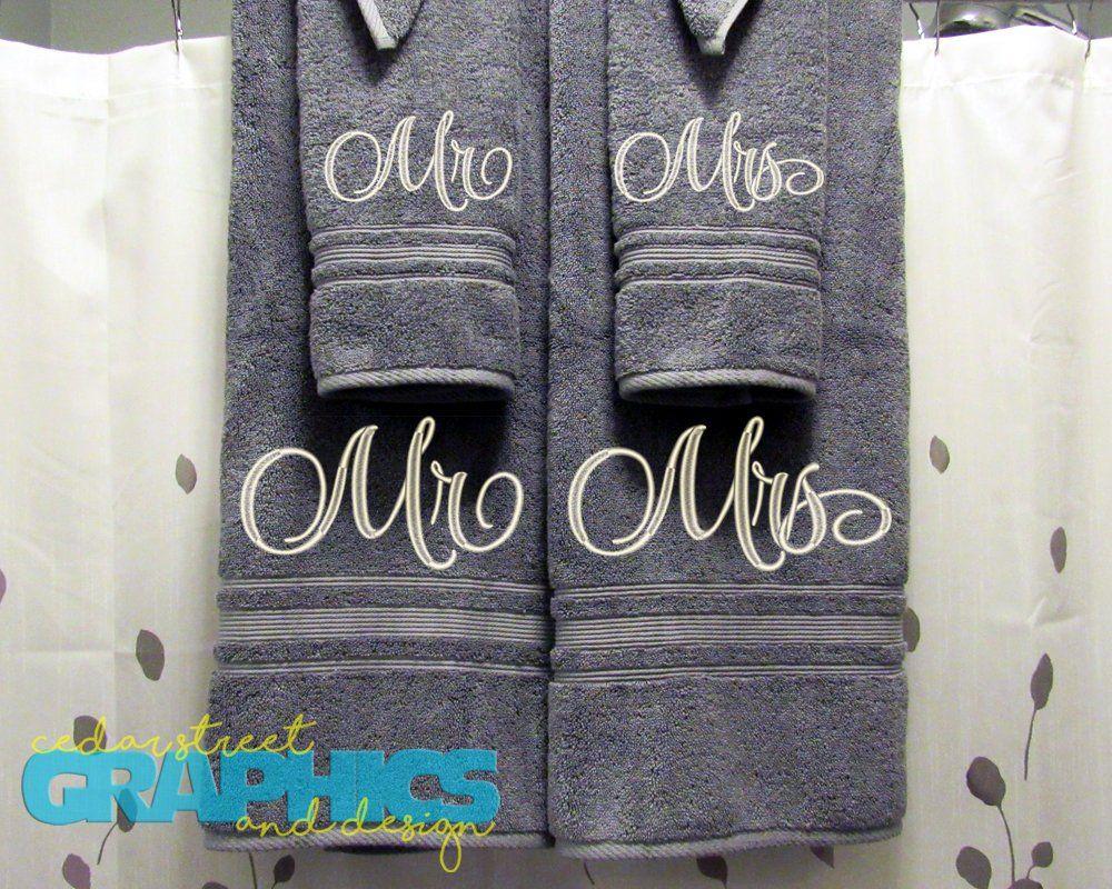 Mr And Mrs Bath Towels Custom His And Hers Bath Towel Set