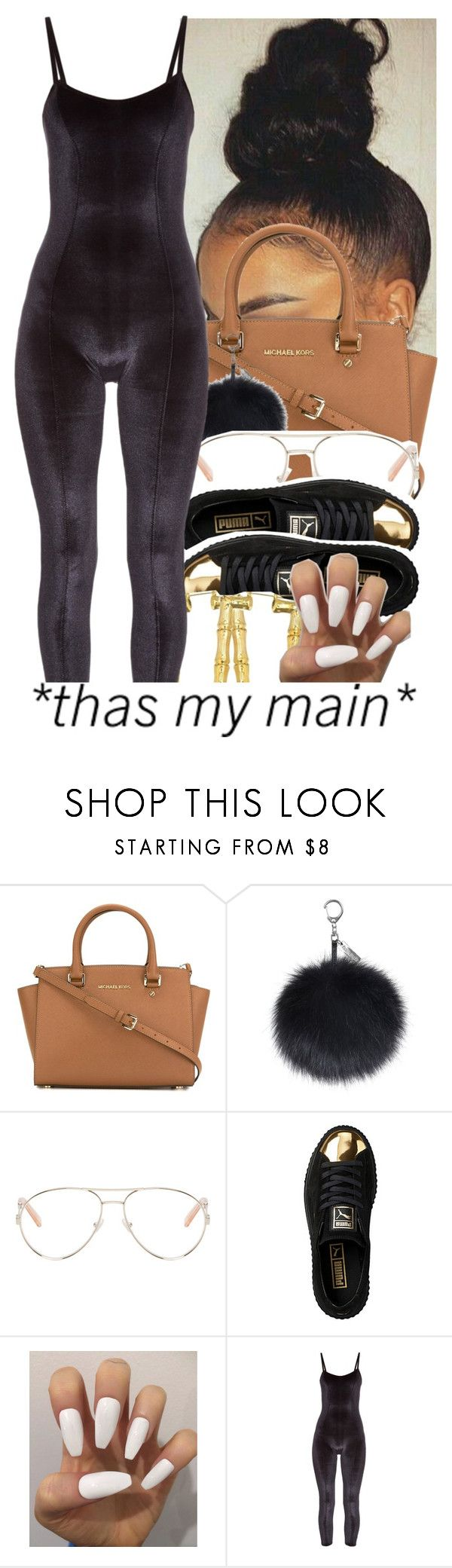 """She ma main one✨❤👌👊"" by slayed-fashion ❤ liked on Polyvore featuring MICHAEL Michael Kors, Chloé, Puma and Lisa Marie Fernandez"