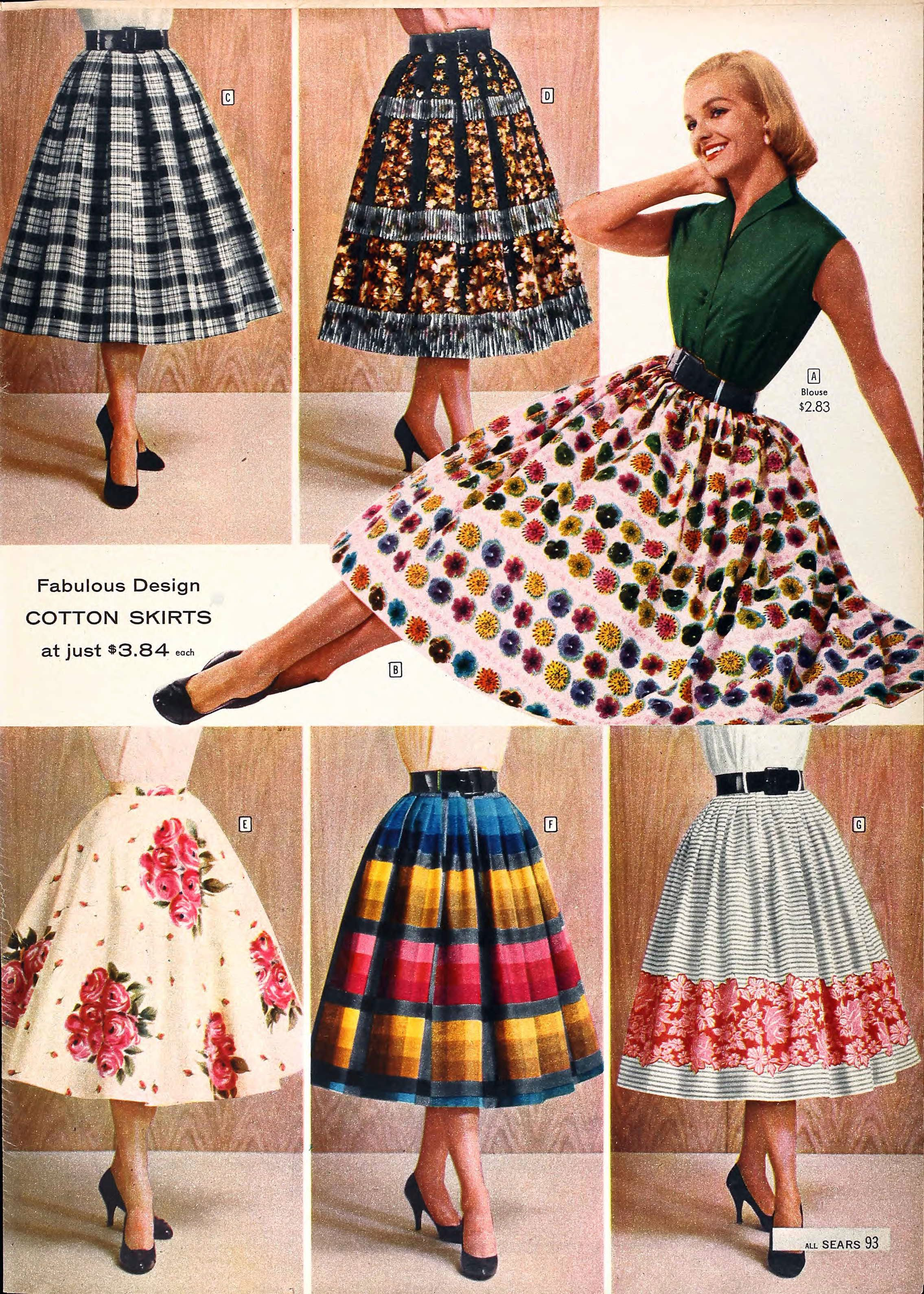Fabulous full skirts from the Sears catalog 403edd3e138e