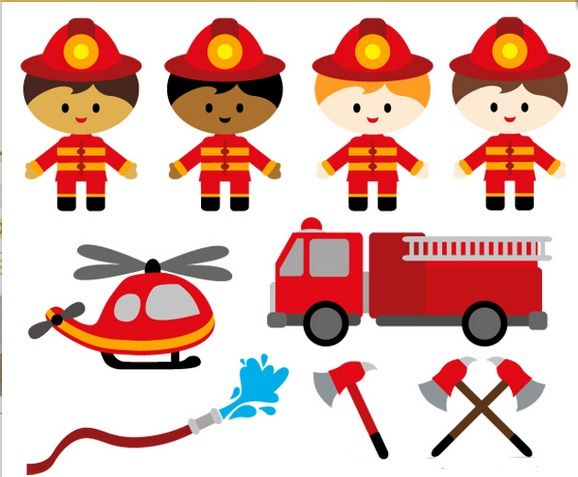 clip art fire brigade   templates and stencils for crafts ...