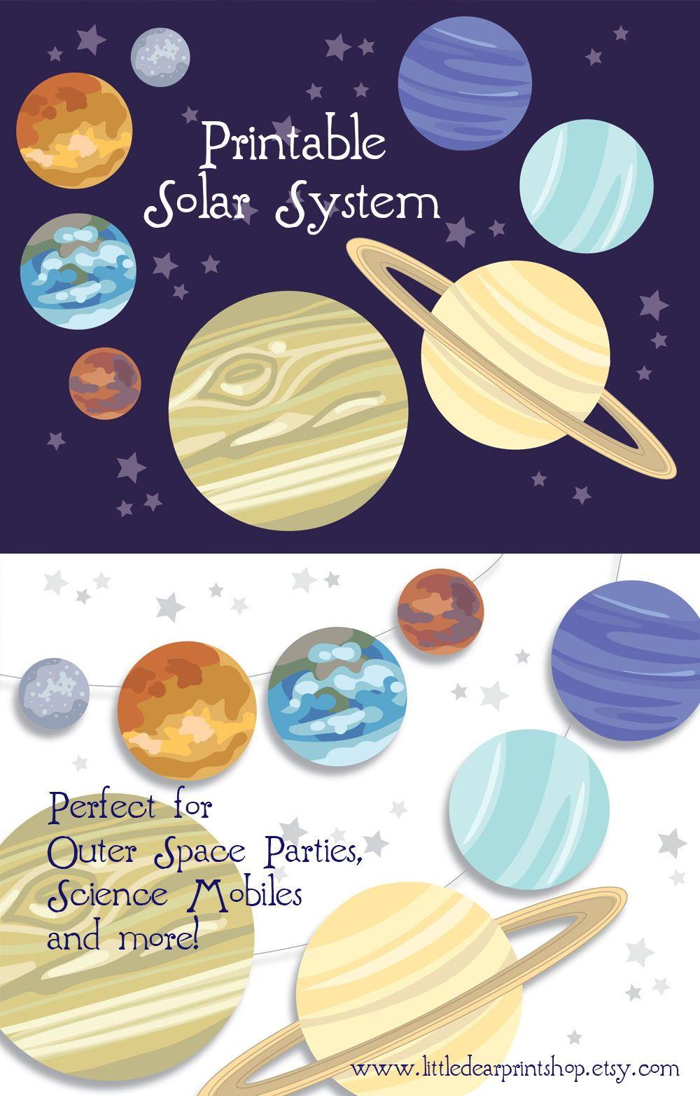 Printable Planet Pictures : printable, planet, pictures, Printable, Planets!, Solar, System, Outer, Space, Party,, Decorating, Sc…, Planet, Party, Decorations