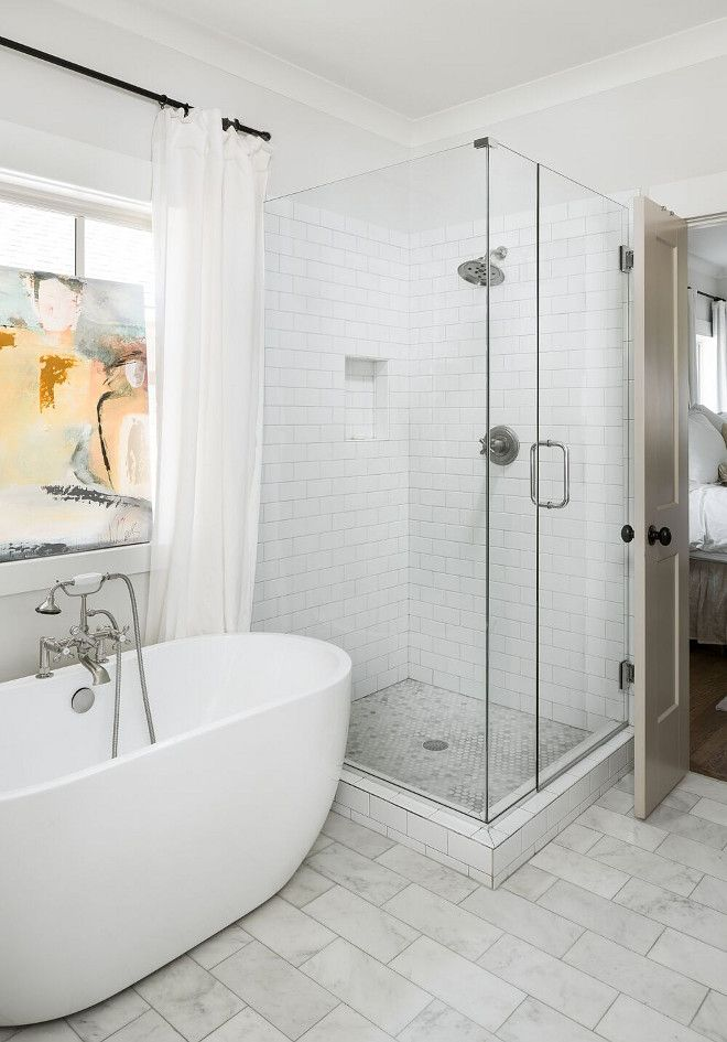 Shower tile ideas Shower Walls/niche- 3x6 semplice white subway