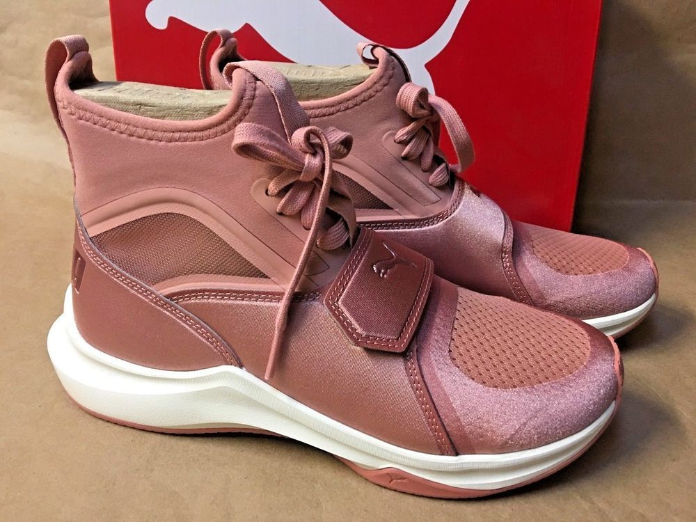 1c9643b9811b9 NEW Puma Women s Phenom Selena Gomez Sneakers 8 CAMEO BROWN High Top Blush  Pink