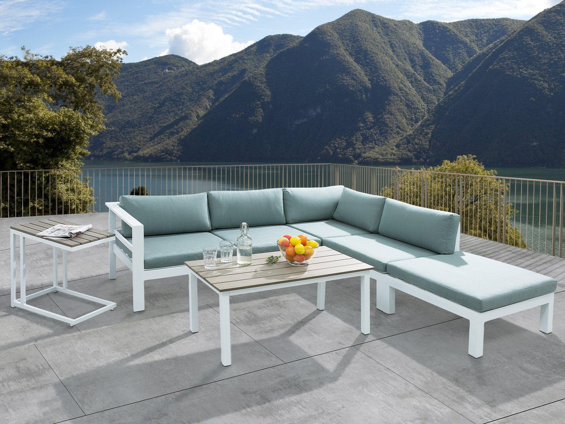 Zestaw Ogrodowy 5 Osobowy Bialo Zielony Messina Outdoor Sofa Sets Conversation Set Patio Corner Sofa Set