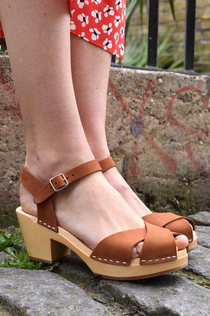 Swedish Hasbeens Mirja Cognac Sandals