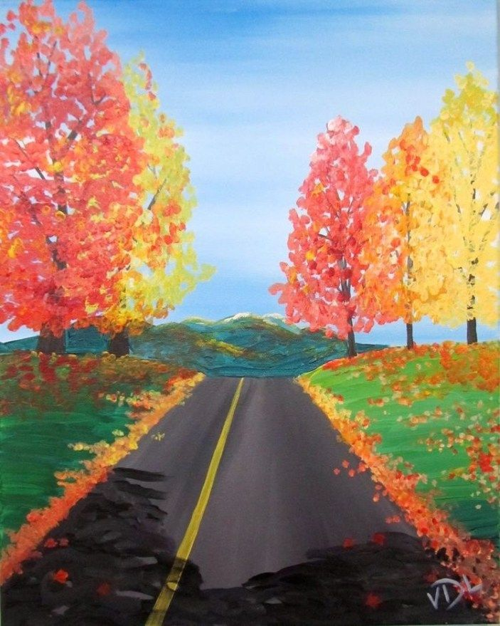 40 Acrylic Painting Tutorials & Ideas For Beginners   Fall ...