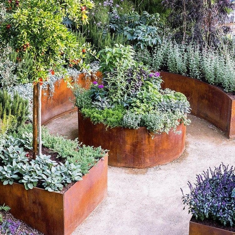 Geliebte schönes Hochbeet aus Cortenstahl selber bauen   Garten   Hochbeet &KO_49