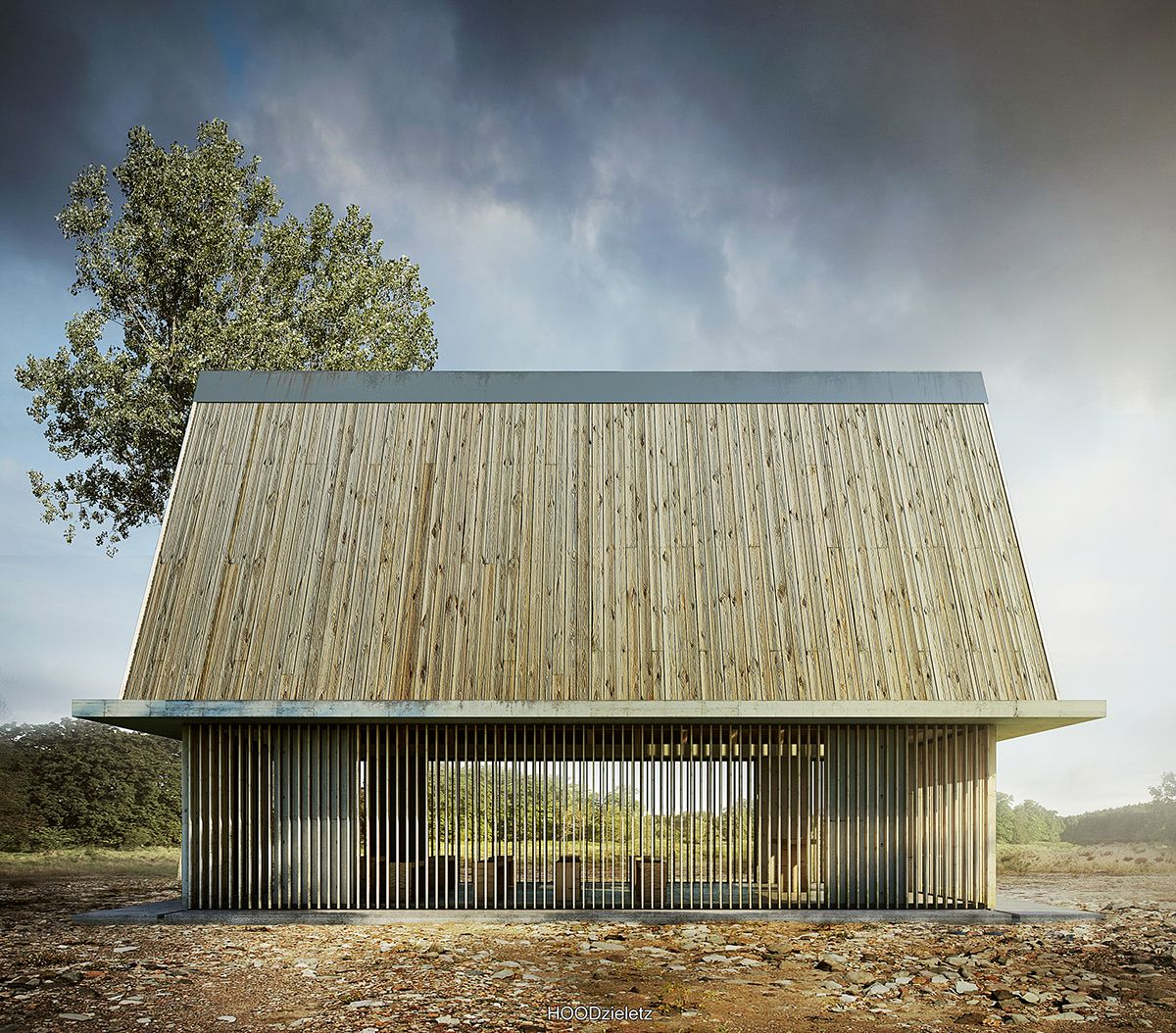 House no. 140 [ House of God]. Cementary chapel in small village near Rzeszow. Architecture, modelling, rendering and post-production: Adam Spychała