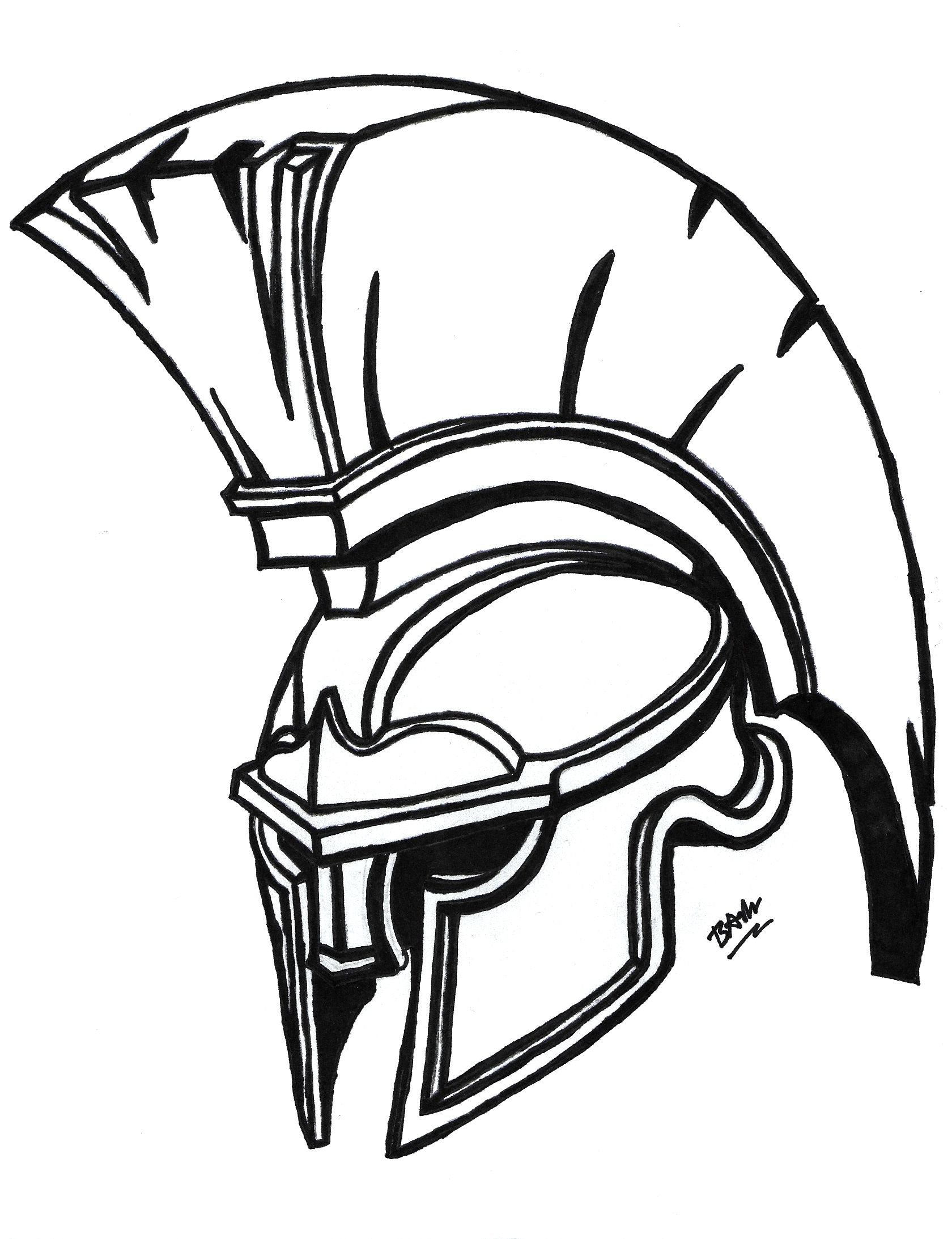 Spartan Helmet Drawing : spartan, helmet, drawing, Spartan, Helmet], Drawing, Available, Purchase, Glossy, Photo, Paper, Shipping, Coloring, Pages,, Helmet, Drawing,, Roman, Warriors