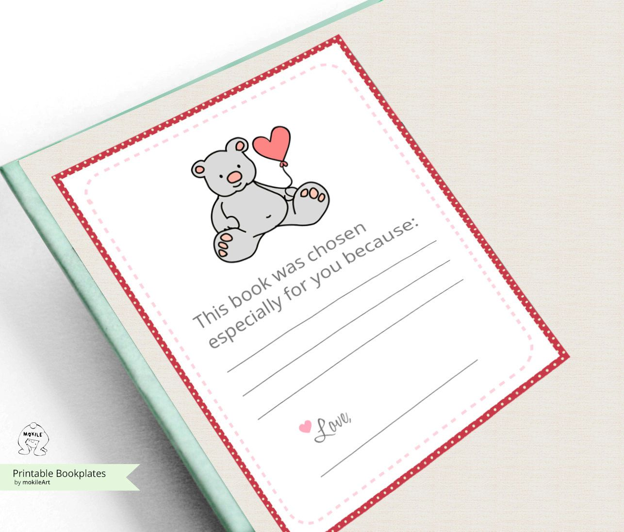 Baby Bookplate Sticker, bookplate stickers baby bunnies
