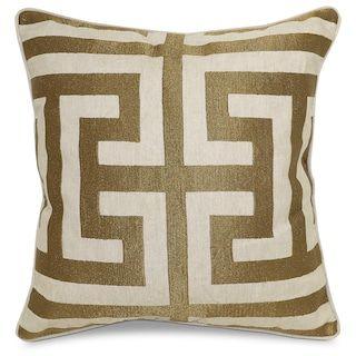 Greek Key Decorative Pillow Bronze