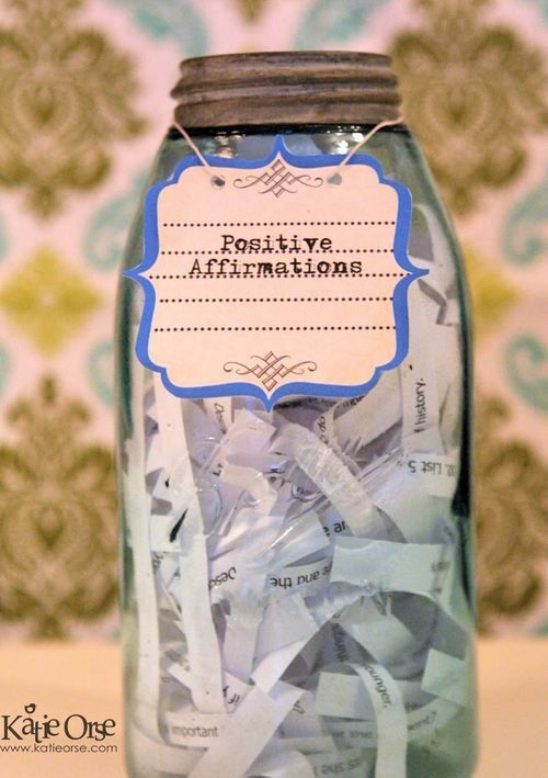 100 Positive Affirmations Jar Love This Idea It S Very Similar To The Happiness Jar Or A Gratitude Journal Affirmations Positive Affirmations Positivity