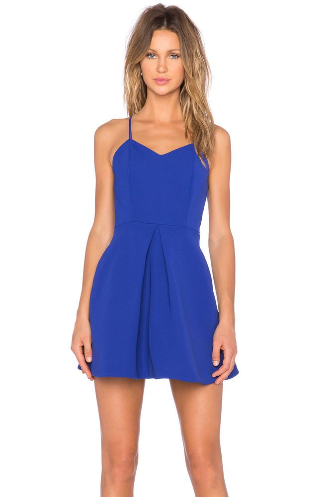 7480d8847d6  170 KEEPSAKE THE LABEL TWISTED FICTION MINI DRESS COBALT BLUE REVOLVE NWT  sz S  Keepsake  FitandFlare