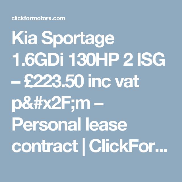 Kia Sportage 1 6gdi 130hp 2 Isg 223 50 Inc Vat P M Personal