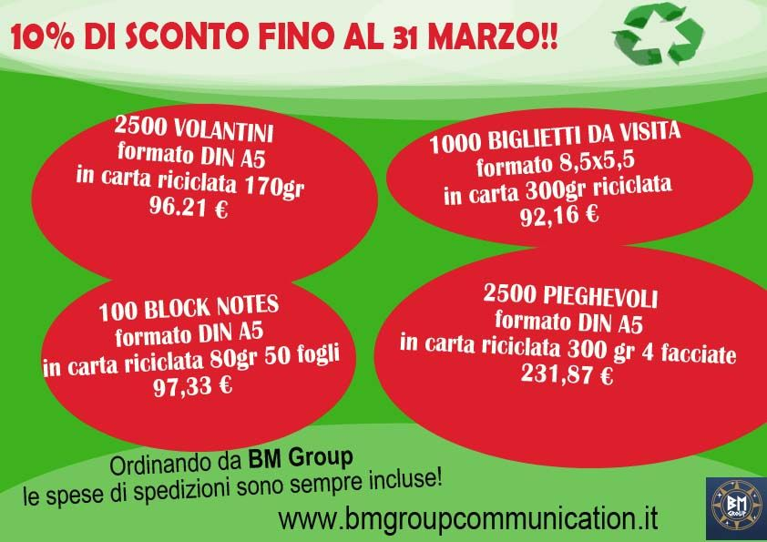 Le nostre offerte di marzo 2014